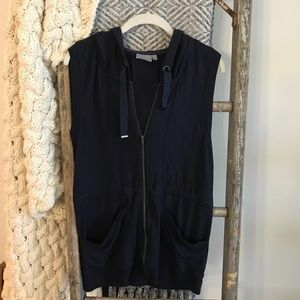 Athleta Sleeveless Full Zip Sweatshirt